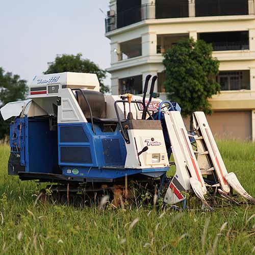Máy gặt lúa Mini nhật bãi Iseki Trontier 115